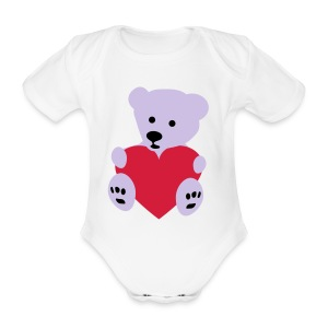 Baby One-Piece Ice Bear - Organic Short-sleeved Baby Bodysuit