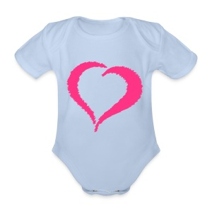 Baby One-Piece Scribble Heart - Organic Short-sleeved Baby Bodysuit