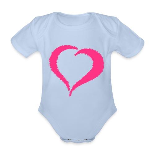 Baby One-Piece Scribble Heart - Organic Short-sleeved Baby Bodysuit