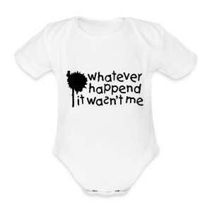 Baby One-Piece Wasn't Me - Organic Short-sleeved Baby Bodysuit