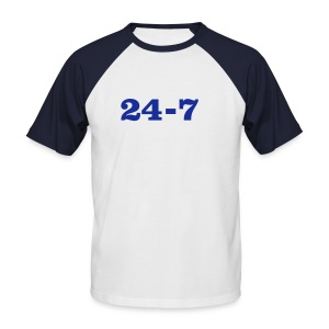 24-7 - T-shirt baseball manches courtes Homme