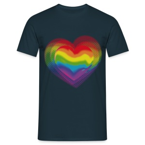 T-Shirt Rainbow Heart - Men's T-Shirt