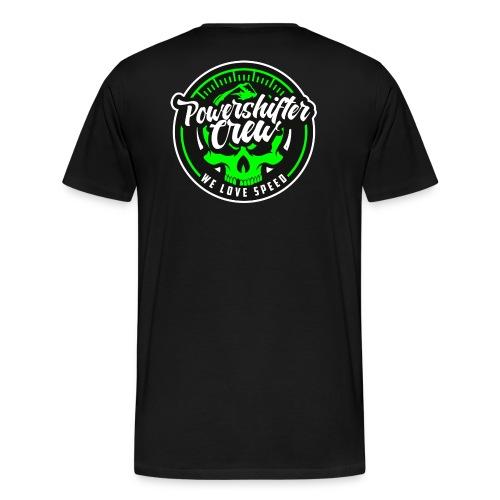 T-Shirt Bear Powershifter rund neon hinten - Männer Premium T-Shirt