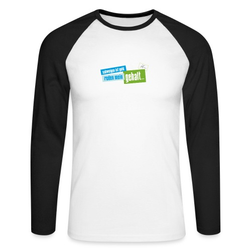 reden ist... new edition - 20% Sale - Männer Baseballshirt langarm