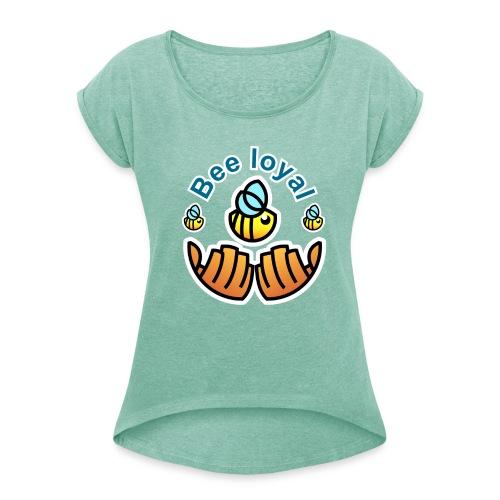 Save the Bees T-shirt - Frauen T-Shirt mit gerollten Ärmeln