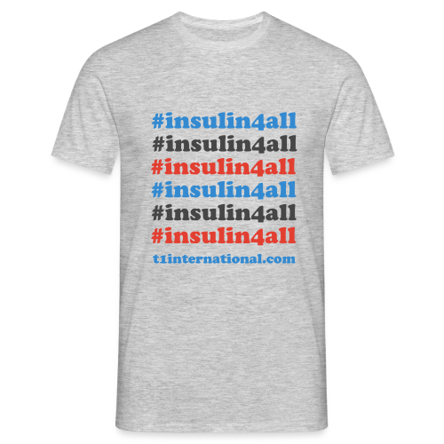 Men's #insulin4all tshirt - Men's T-Shirt