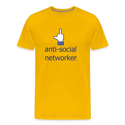 anti social networker - Men's Premium T-Shirt