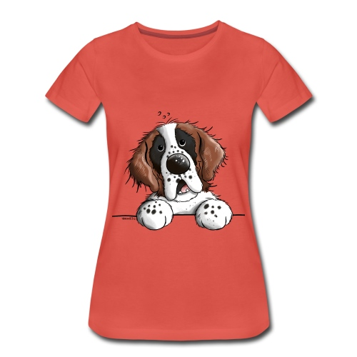 tee shirt speatshirt   mignon saint bernard - T-shirt Premium Femme