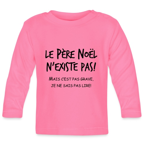 pere noel enfant - T-shirt manches longues Bébé