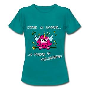 T-shirt BC Femme Licorne, Poudre de Perlimpinpin, magique - T-shirt Femme