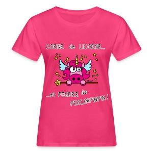 T-shirt Bio Femme Licorne, Poudre de Perlimpinpin, magique - T-shirt bio Femme