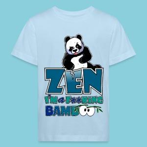 Kid's Organic T-shirt Bad panda, be zen or not - Kids' Organic T-shirt
