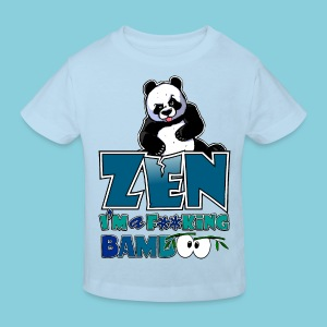 Kid's Organic T-shirt Bad panda, be zen or not - Kids' Organic T-shirt