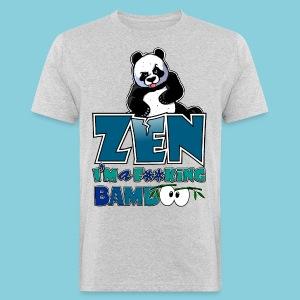 Men's Organic T-shirt Bad panda, be zen or not - Men's Organic T-shirt