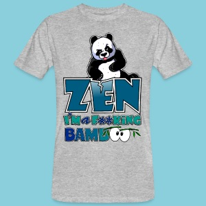 Men's Organic T-shirt Bad panda, be zen or not - Men's Organic T-shirt