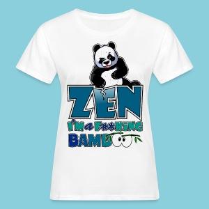 Women's Organic T-shirt Bad panda, be zen or not - Women's Organic T-shirt