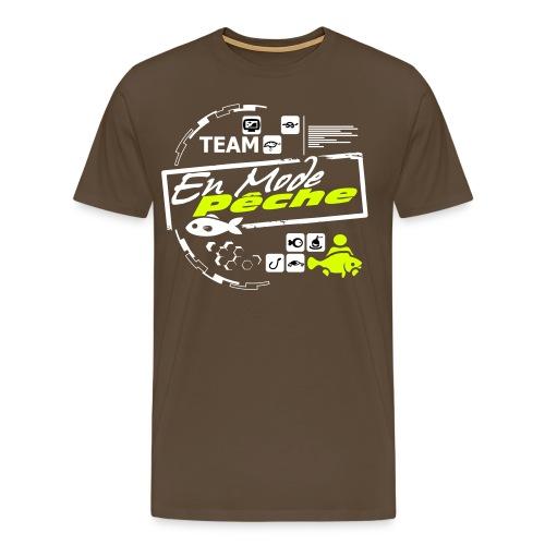 Tee Shirt Luxe Marron Version 1 ENMODEPECHE  - T-shirt Premium Homme