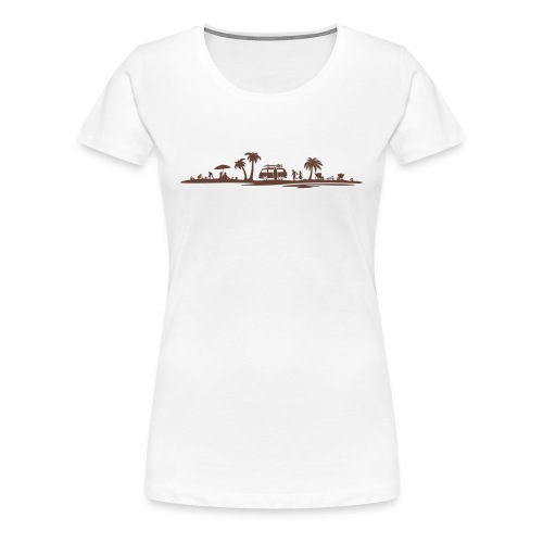 Sonne Strand Wohnmobil - Frauen Premium T-Shirt