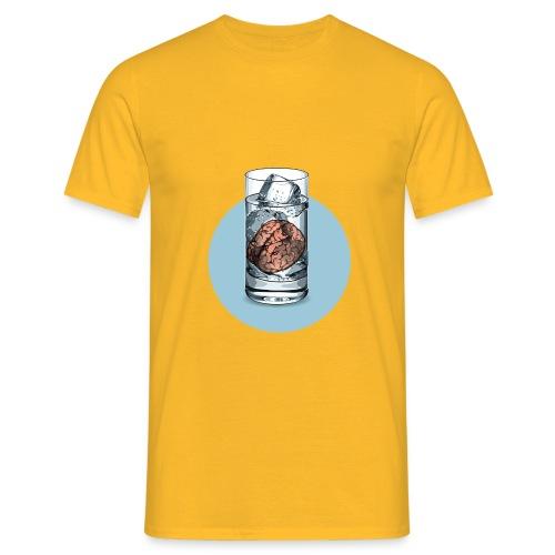 Eisgedanken Kühler Kopf in gelb by Hatgirl - Männer T-Shirt
