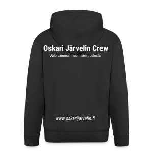 Crew-huppari - Miesten premium vetoketjullinen huppari