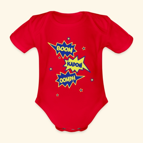 Superhero - Organic Short-sleeved Baby Bodysuit