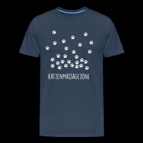 Katzenmassagezone - Männer Premium T-Shirt