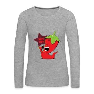 Red Chili Pepper - Vrouwen Premium shirt met lange mouwen