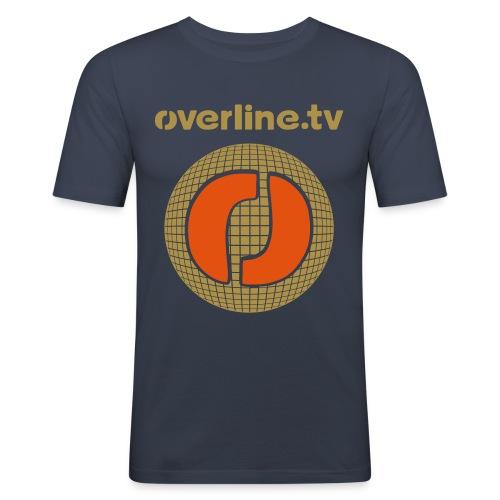 Slim Navi Orange Reflect - Männer Slim Fit T-Shirt
