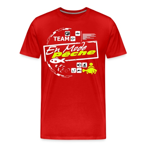 Tee Shirt Team Luxe Rouge ENMODEPECHE  - T-shirt Premium Homme