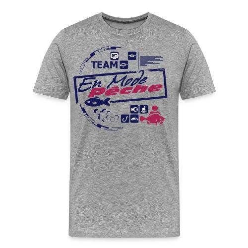 Tee Shirt Team Luxe Gris ENMODEPECHE - T-shirt Premium Homme