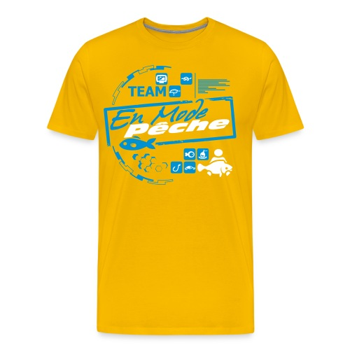 Tee Shirt Team Luxe Jaune ENMODEPECHE  - T-shirt Premium Homme