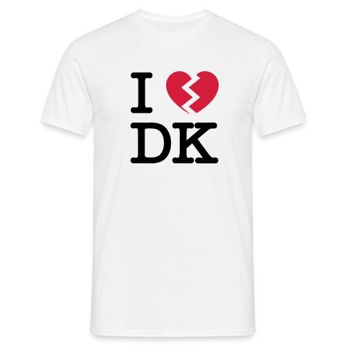 I [heartbroken] DK - white - Herre-T-shirt