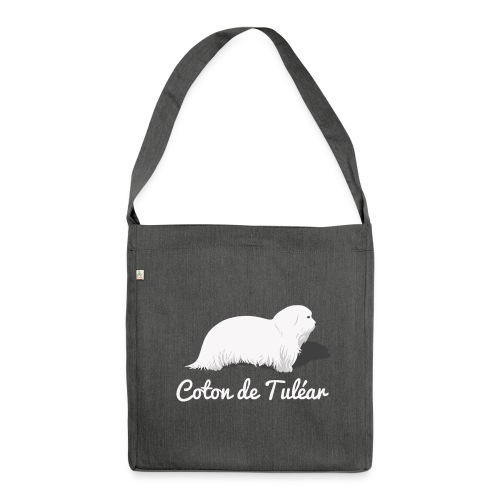 Coton de Tuléar Tasche - Schultertasche aus Recycling-Material