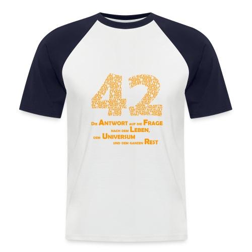 Antwort - 42 - T-Shirt - Männer Baseball-T-Shirt