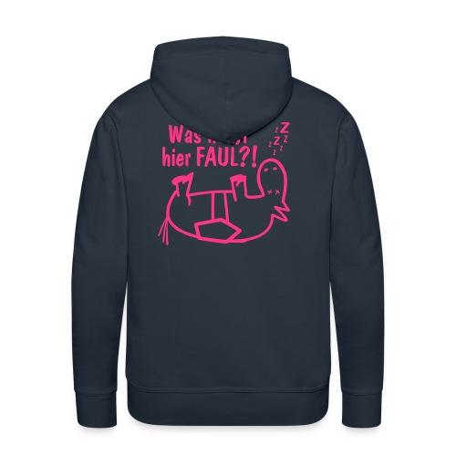 Kapuzenpullover Was heißt hier FAUL?! navy-pink - Männer Premium Hoodie