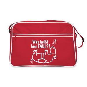 Retro-Pferde-Tasche Was heißt hier FAUL?! - Retro Tasche