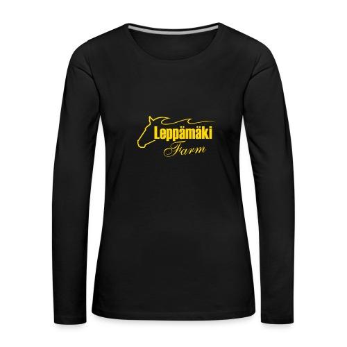 Naisten t-paita pitkäh. muskel - Naisten premium pitkähihainen t-paita
