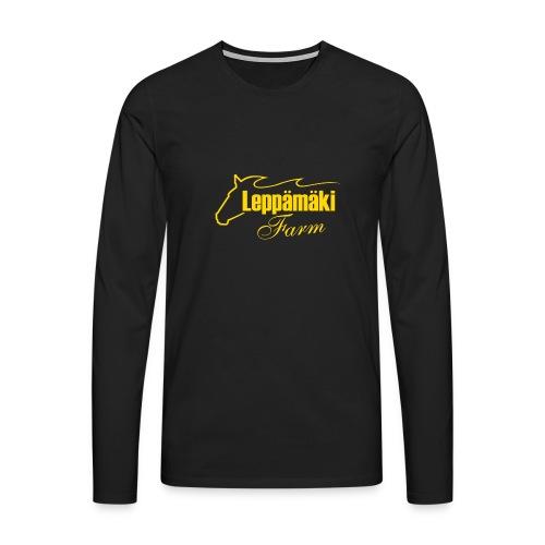 Miesten paita 3 muskel - Miesten premium pitkähihainen t-paita