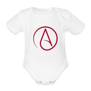 Atheist - Baby bio-rompertje met korte mouwen