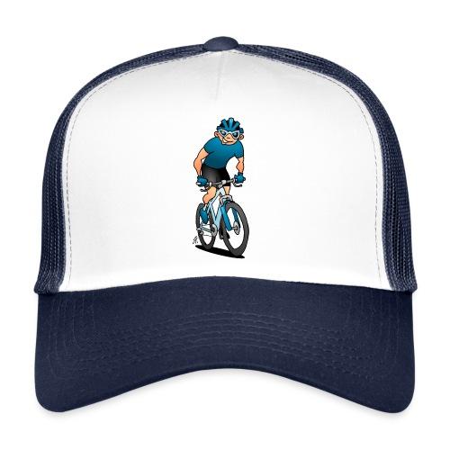 MTB - Pyöräilijä hänen moutain polkupyörällä Lippikset ja myssyt - Trucker Cap