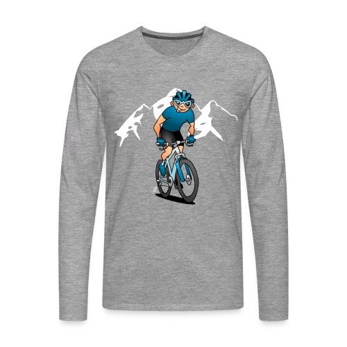MTB - Cyklist i fjällen Långärmade T-shirts - Men's Premium Longsleeve Shirt
