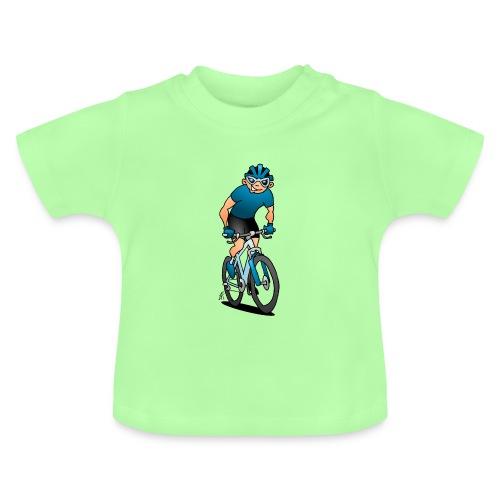 MTB - Pyöräilijä hänen moutain polkupyörällä Vauvan paidat - Baby T-Shirt