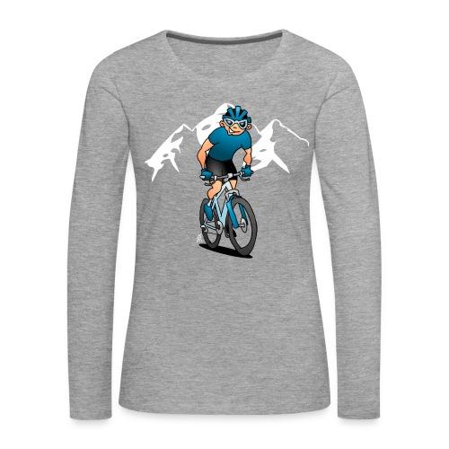 MTB - Cyklist i fjällen Långärmade T-shirts - Women's Premium Longsleeve Shirt