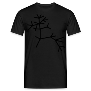 Tree of life - black on black print! - Mannen T-shirt