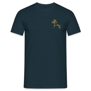 Tree of life - small breast logo - Mannen T-shirt
