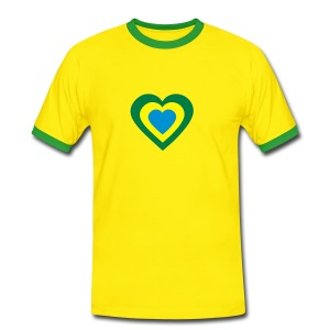 Yellow/green i_love_brasile Men's T-Shirts - Men's Ringer Shirt