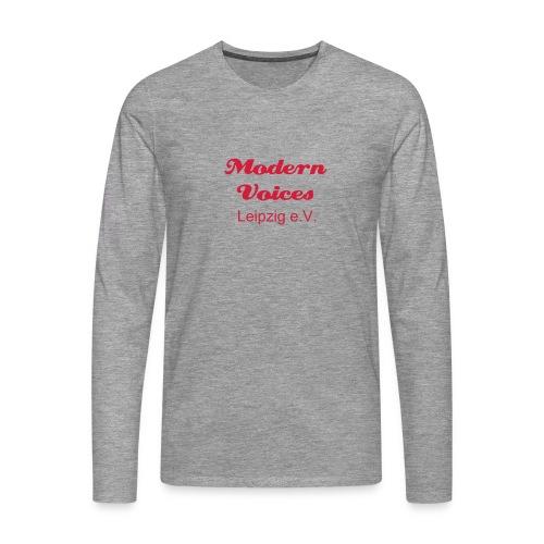 Herrenshirt mit langem Arm, Druckfarbe Rot - Männer Premium Langarmshirt