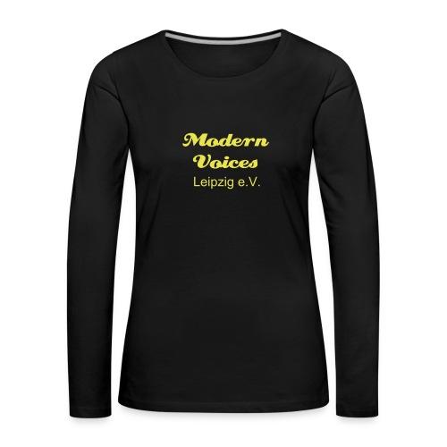Damenshirt mit langem Arm, Druckfarbe Gelb - Frauen Premium Langarmshirt