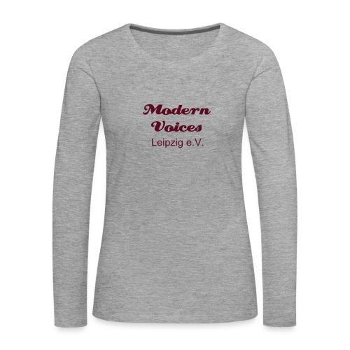 Damenshirt mit langem Arm, Druckfarbe Burgunderrot - Frauen Premium Langarmshirt