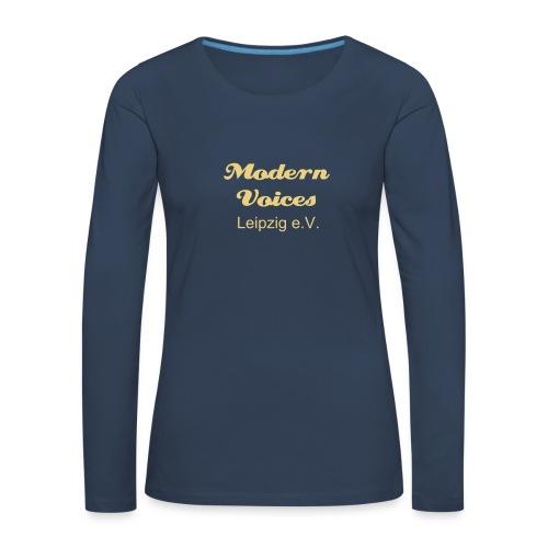Damenshirt mit langem Arm, Druckfarbe Beige - Frauen Premium Langarmshirt